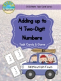 January Themed Adding Up to 4 Two-Digit Numbers Task Cards & Game