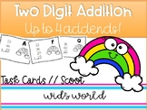 Adding Up to FOUR TwoDigit Numbers Task Cards