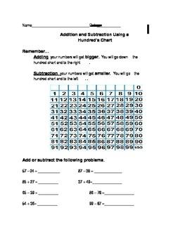 Adding Using a Hundreds Chart