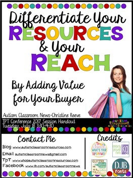 Differentiate Your Resources and Your Reach