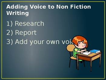 Adding Voice to Nonfiction Writing