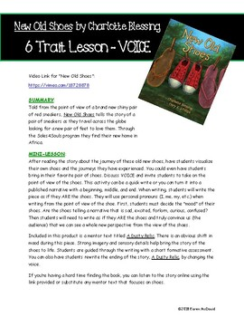 Adding Voice to Writing - New Old Shoes (6 Traits of Writing Activity)