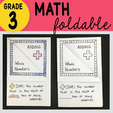 Doodle Notes - Adding Whole Numbers Foldable by Math Doodles 3rd Grade