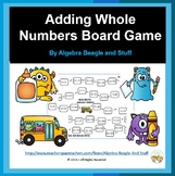 Adding Whole Numbers Board Game with Flash Cards