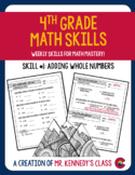 Adding Whole Numbers - 4th Grade Math Skill of the Week #1