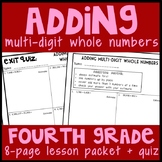 Adding Whole Numbers through the Millions Place, 2 - 4 Addends, Varied Places