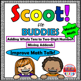Mental Math Adding Whole Tens to Two-Digit Numbers - Scoot for Buddies!