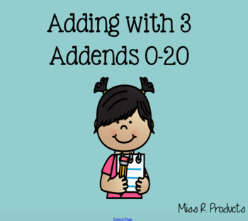 Adding With 3 Numbers Mini Unit