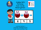 Adding With Pictures Hearts on Love Bugs  Task Cards  Grade K