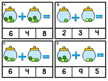 Adding With Pictures St. Patrick's Day  Task Cards  Grade K