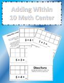 Adding Within 10 Math Center