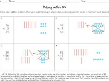 Adding Within 100 (Common Core 1.NBT.C.4)