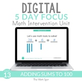 Adding Within 100 | Digital Distance Learning Math Interve