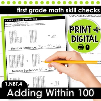 Adding Within 100 - First Grade Print and Go