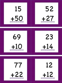 Adding Within 100 (No Regrouping) Task Cards