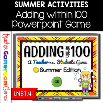 Adding Within 100 - Summer Edition - Powerpoint Game