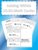 Adding Within 10-20 Math Center