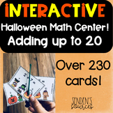 Adding Within 20 Poke Cards Center Halloween Themed