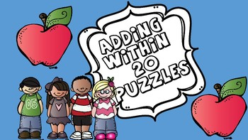 Adding Within 20 Puzzles