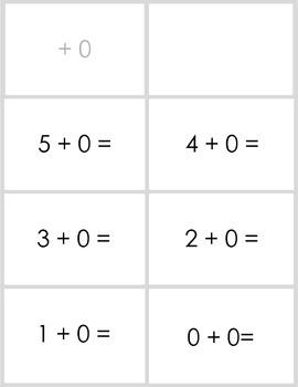 Adding Within 5 Flashcards for Kindergarten