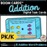 Adding Word Problems Boom Cards™ Pre-K and Kindergarten Ma