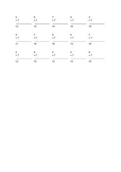 Adding Worksheet (50 PROBLEMS)