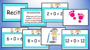 Adding Zero Addition Facts Mental Maths Game, Brain Break or Maths Warm Up