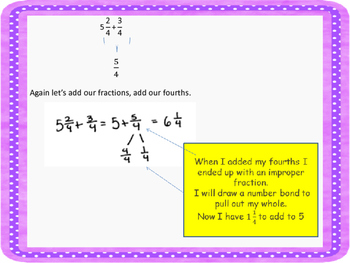 Adding a Mixed Number and a Fraction Mini Lesson