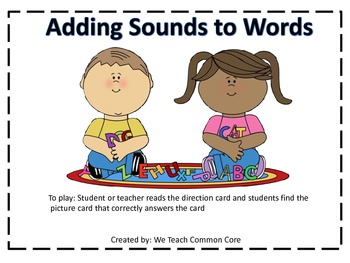 Additon of a Sound to Make a New Word Phonemic Awareness