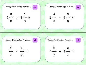 Adding ad Subtraction Fractions