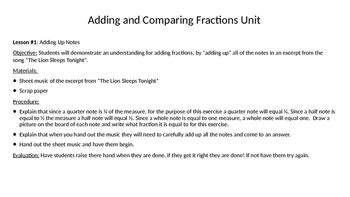 Adding and Comparing Fractions