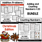 Adding and Counting Numbers 1 - 20 BUNDLE ~ Christmas Edition