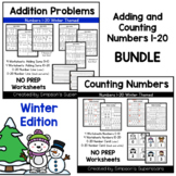 Adding and Counting Numbers 1 - 20 BUNDLE ~ Winter Edition