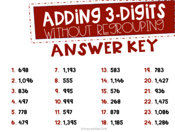 Adding and Estimating 3-Digits Task Cards-With and Without Regrouping (3 Sets)