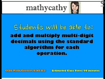 Adding and Multiplying Decimals