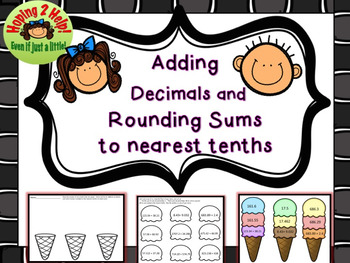 Adding and Rounding Decimals to the Nearest Tenths