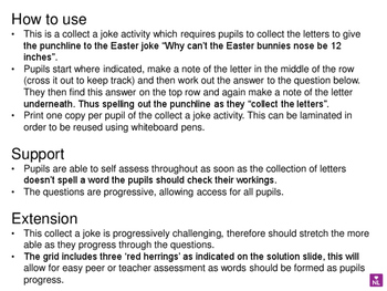 Adding and Subracting Fractions (Collect a Joke Worksheet) Easter Special