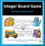 Adding and Subracting Integers Monster Board Game with Fla