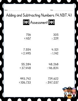 Adding and Subtracting: 4.NBT.4