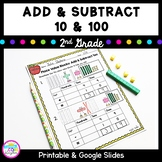 Add and Subtract 10 and 100- 2nd Grade 2.NBT.B.8 Google Slides Distance Learning