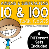 Adding and Subtracting 10 and 100 Task Cards