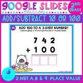 Adding and Subtracting 10 or 100 Google Slides Distance Learning