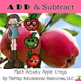 Adding and Subtracting Math 10 or 100 with Apple Emojis Tens Frames Activity