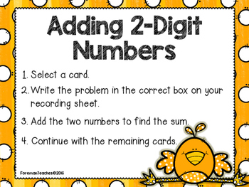 Adding and Subtracting 2-Digit Numbers