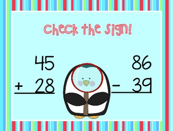 Adding and Subtracting 2-Digit Numbers [Flipchart]