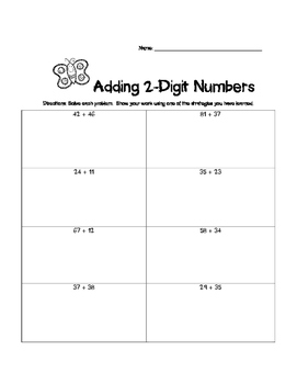 Adding and Subtracting 2-Digit Numbers Practice Worksheets--3!