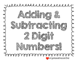 Adding and Subtracting 2 Digit Numbers Task Cards