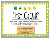 Adding and Subtracting 2-digit and 3-digit numbers with and without regrouping