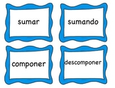 Adding and Subtracting 3.4A Spanish Math Vocabulary Cards