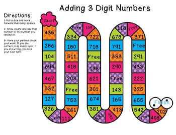 Adding and Subtracting 3 Digit Numbers Bundle